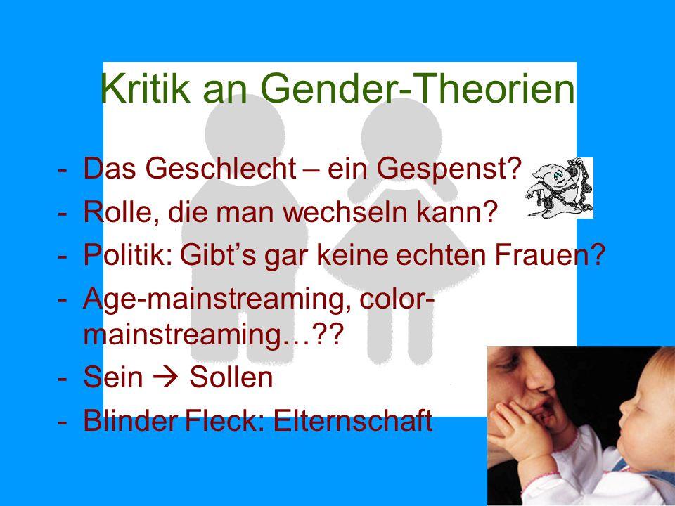 Kritik an Gender-Theorien