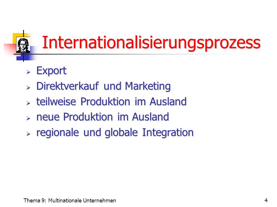 Internationalisierungsprozess