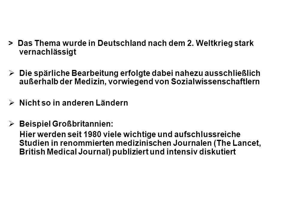 > Das Thema wurde in Deutschland nach dem 2