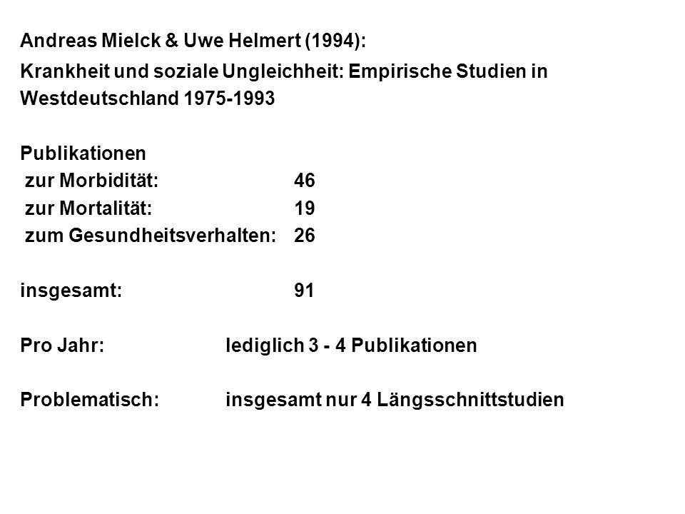 Andreas Mielck & Uwe Helmert (1994):