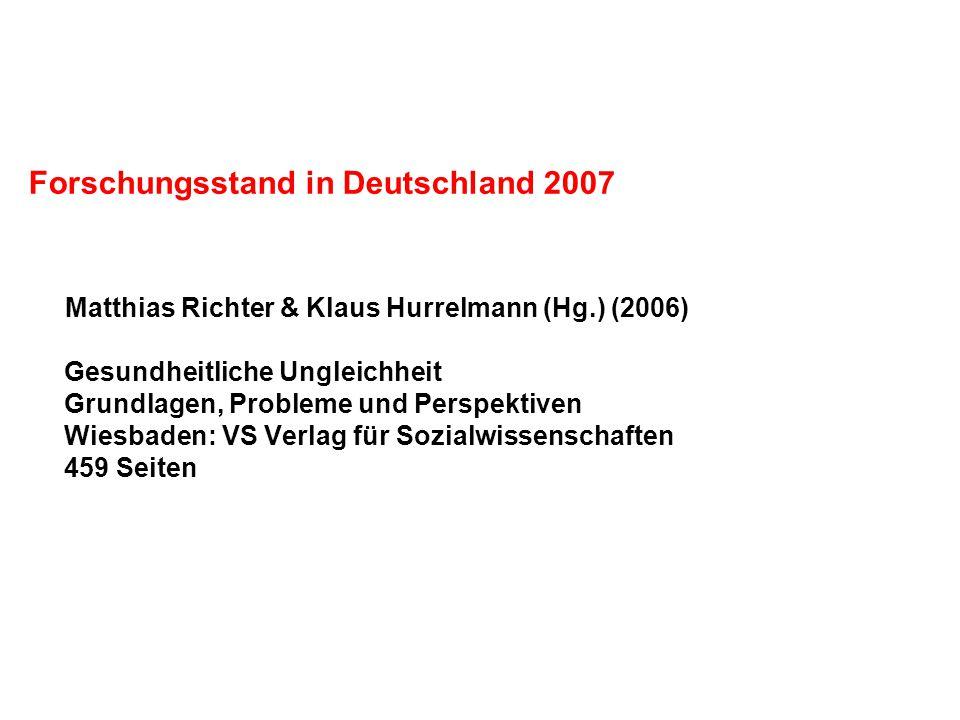 Forschungsstand in Deutschland 2007