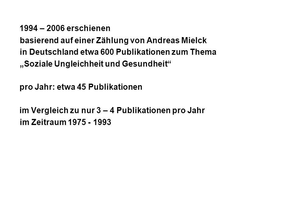1994 – 2006 erschienen basierend auf einer Zählung von Andreas Mielck