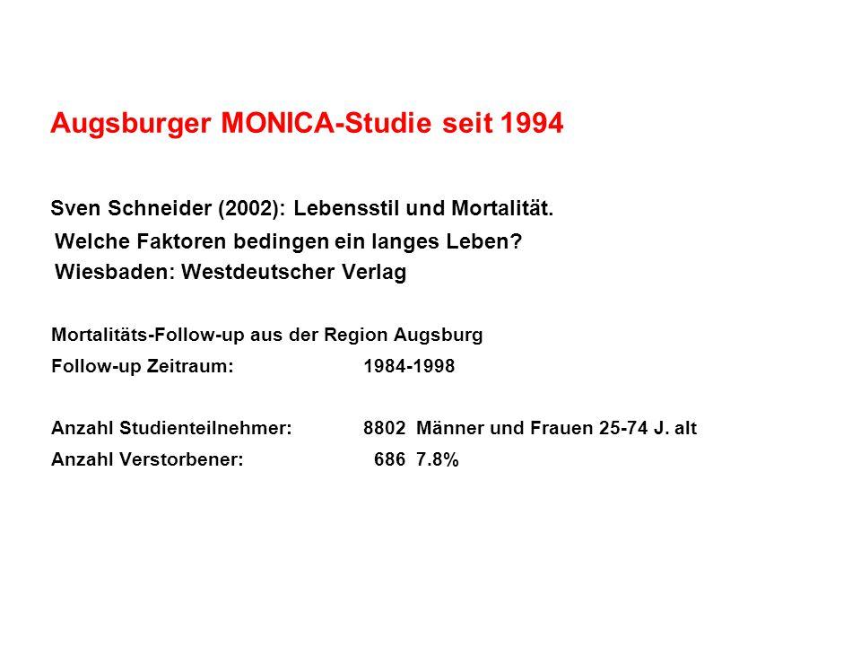Augsburger MONICA-Studie seit 1994