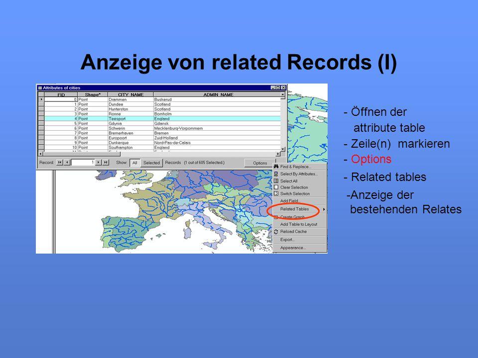 Anzeige von related Records (I)