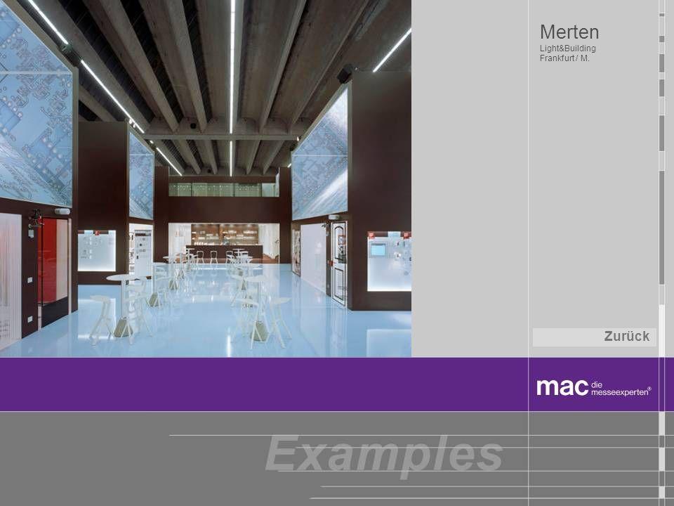 Merten Light&Building Frankfurt / M. Zurück