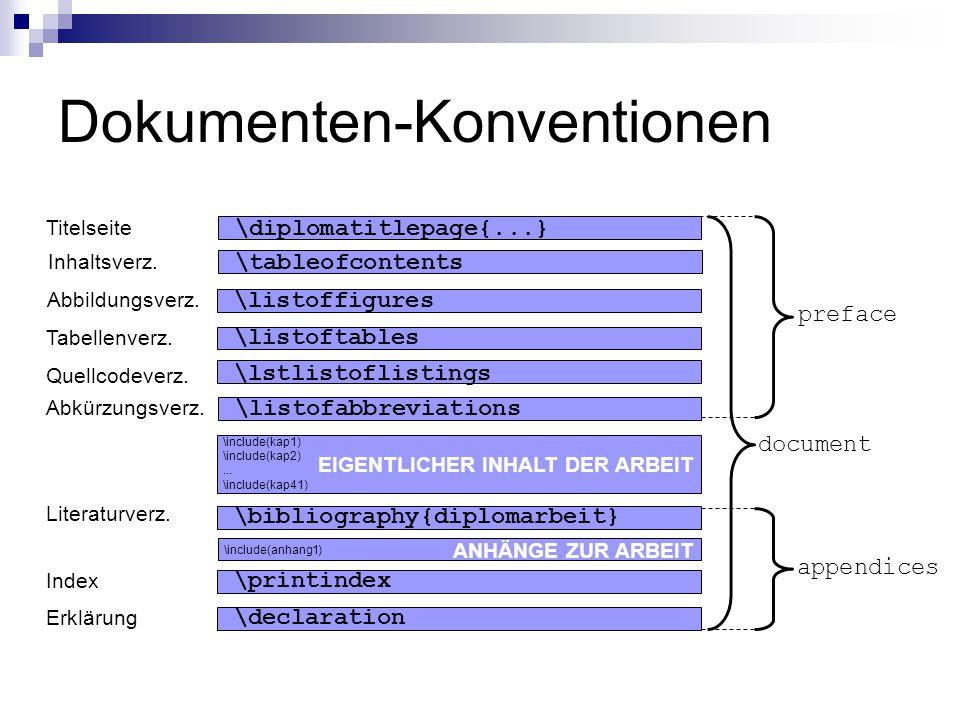 Dokumenten-Konventionen