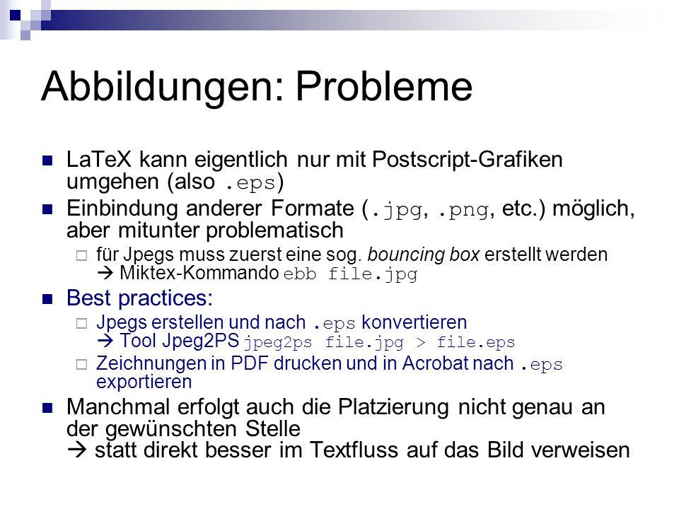 Abbildungen: Probleme