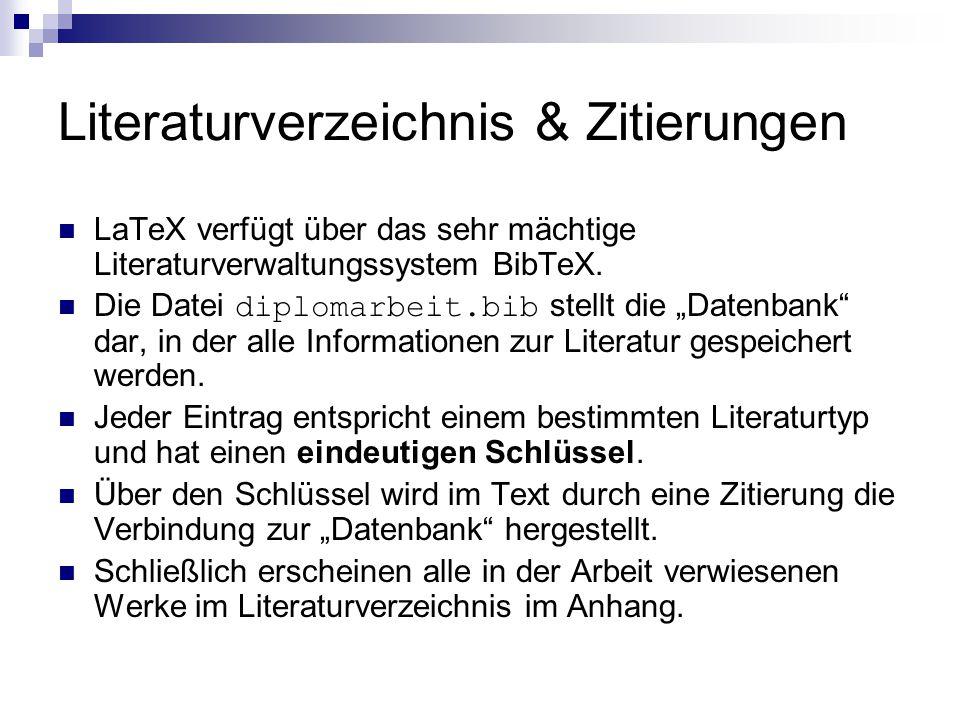 Literaturverzeichnis & Zitierungen