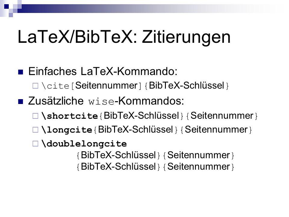 LaTeX/BibTeX: Zitierungen