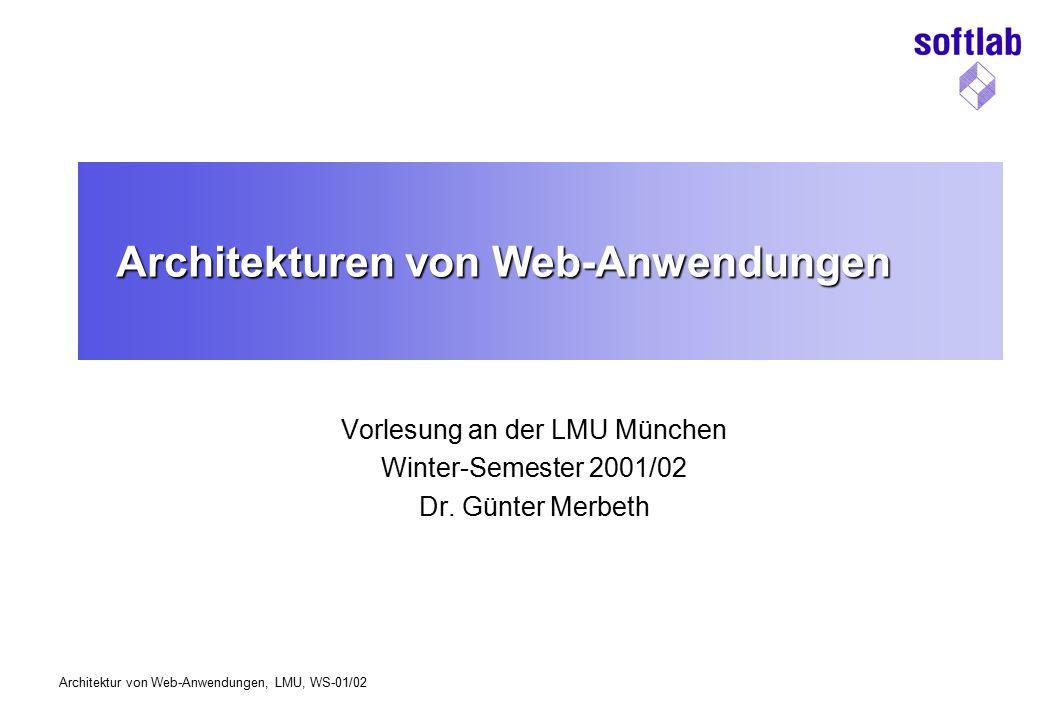 Architekturen von Web-Anwendungen