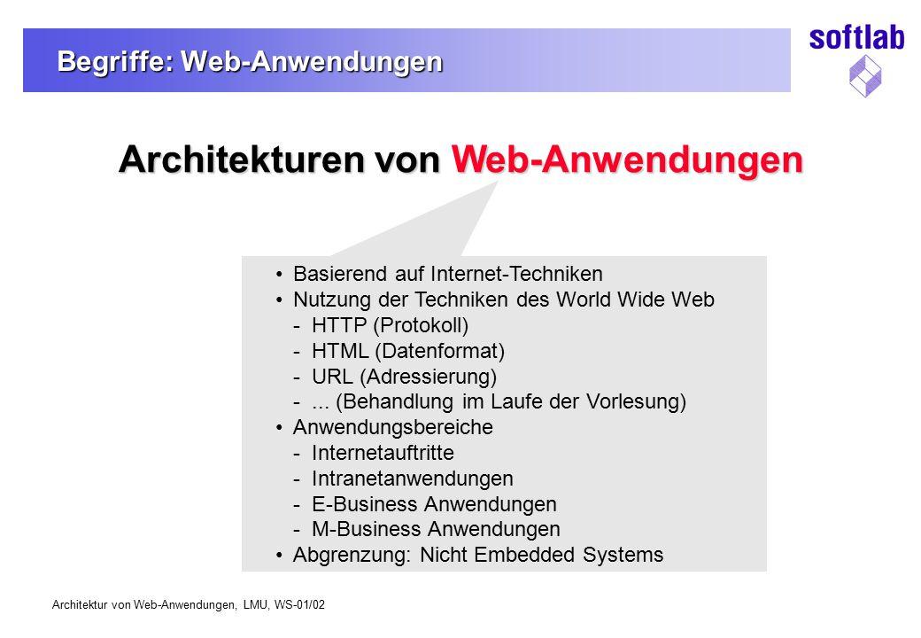 Begriffe: Web-Anwendungen