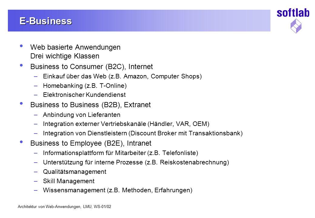 E-Business Web basierte Anwendungen Drei wichtige Klassen