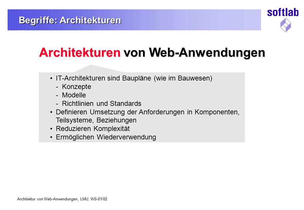 Begriffe: Architekturen