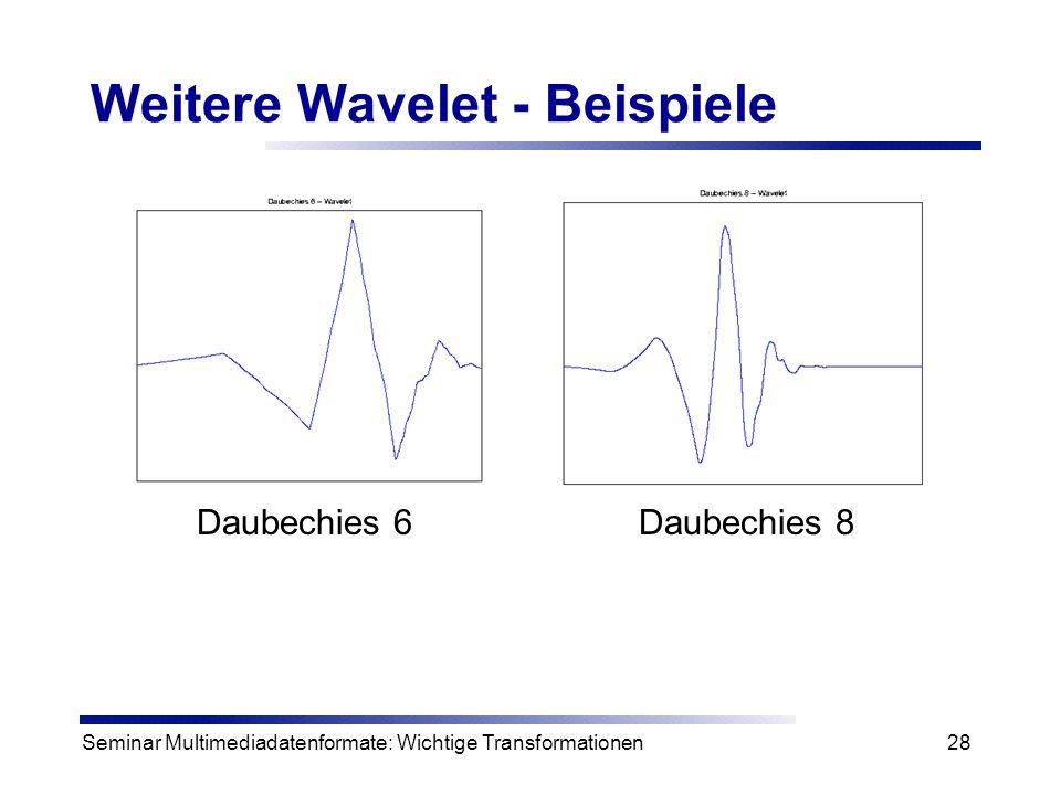 Weitere Wavelet - Beispiele