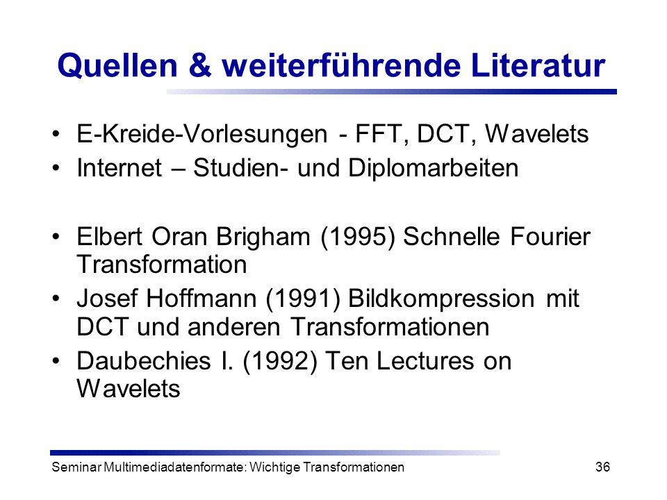 Quellen & weiterführende Literatur