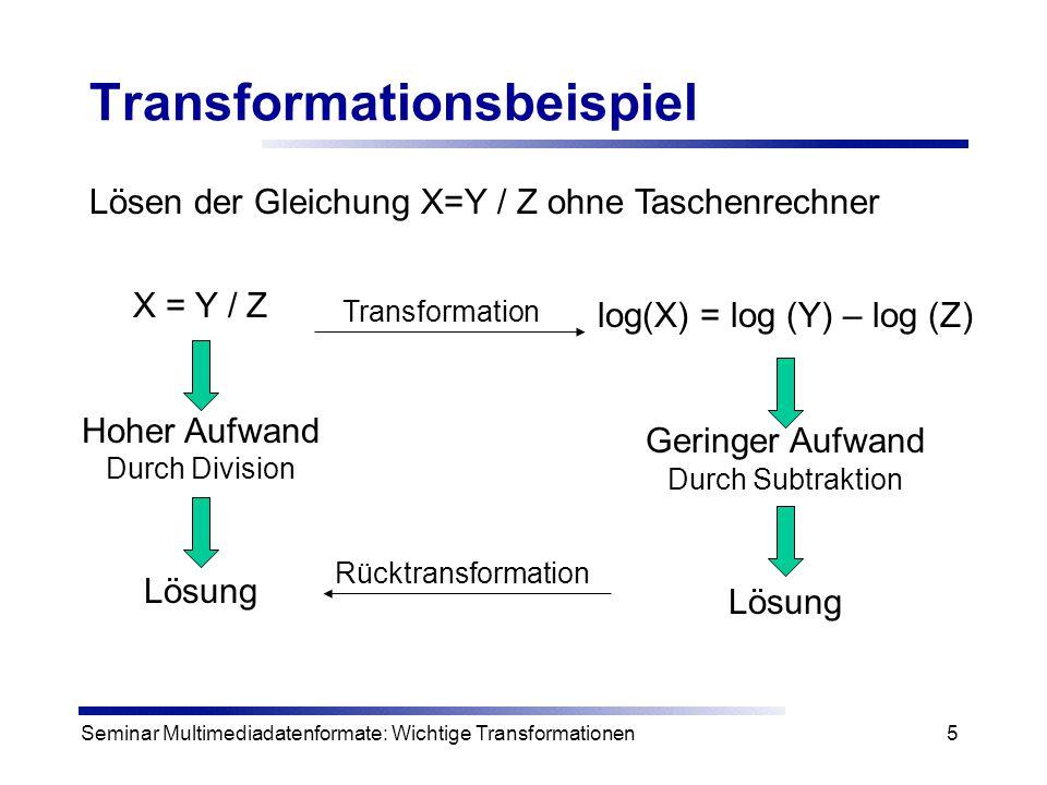 Transformationsbeispiel