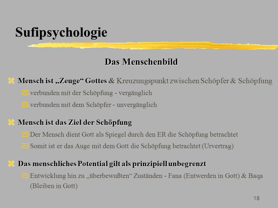 Sufipsychologie Das Menschenbild