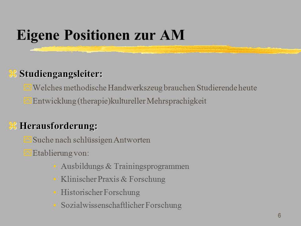 Eigene Positionen zur AM