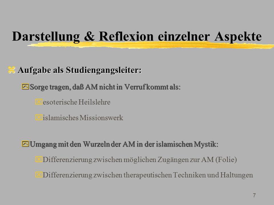 Darstellung & Reflexion einzelner Aspekte