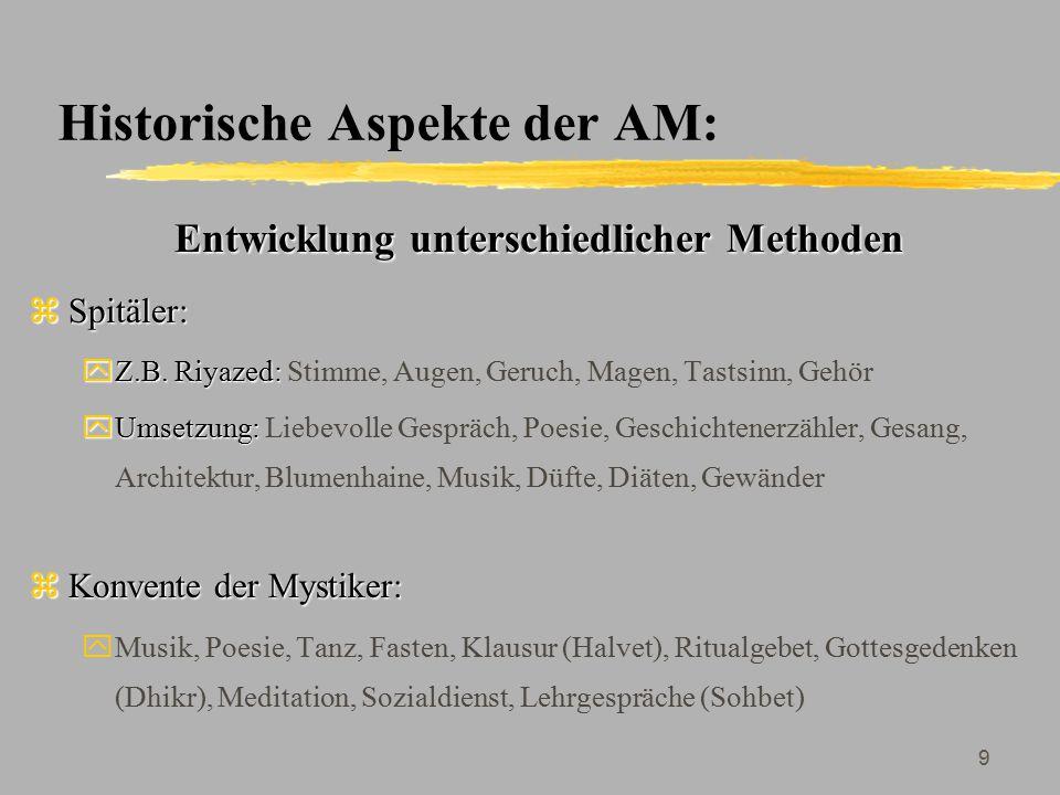 Historische Aspekte der AM: