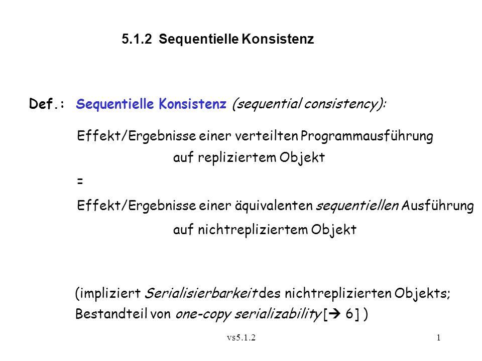 5.1.2 Sequentielle Konsistenz