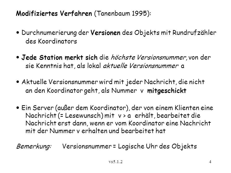Modifiziertes Verfahren (Tanenbaum 1995):
