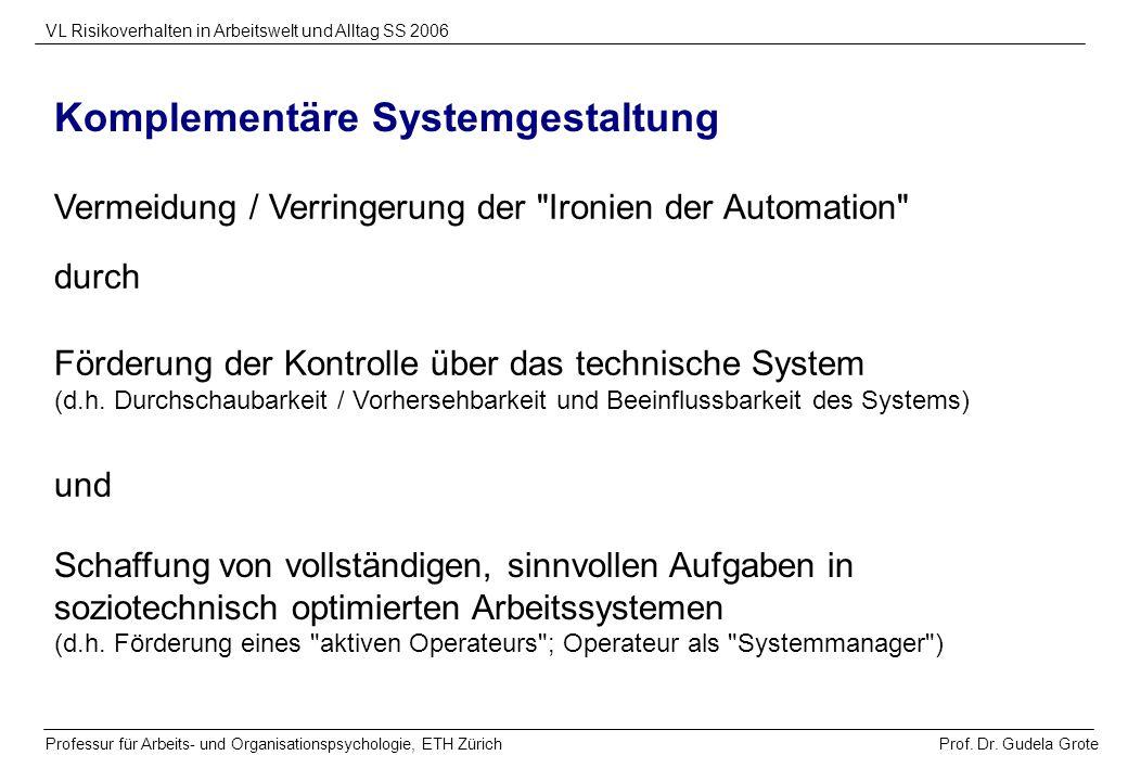 Komplementäre Systemgestaltung