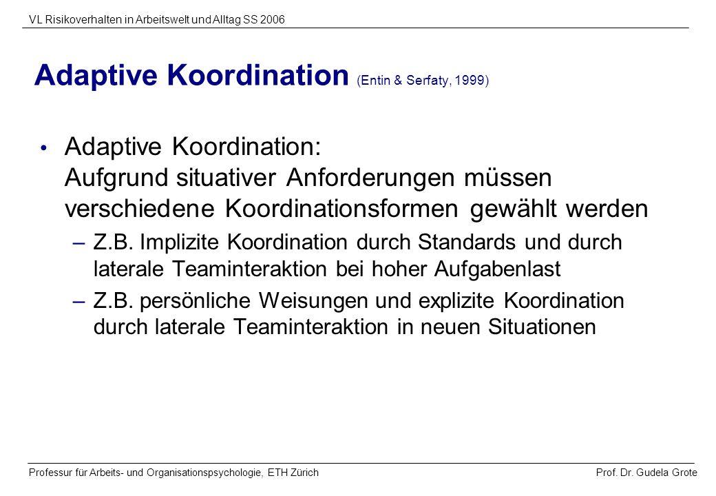 Adaptive Koordination (Entin & Serfaty, 1999)
