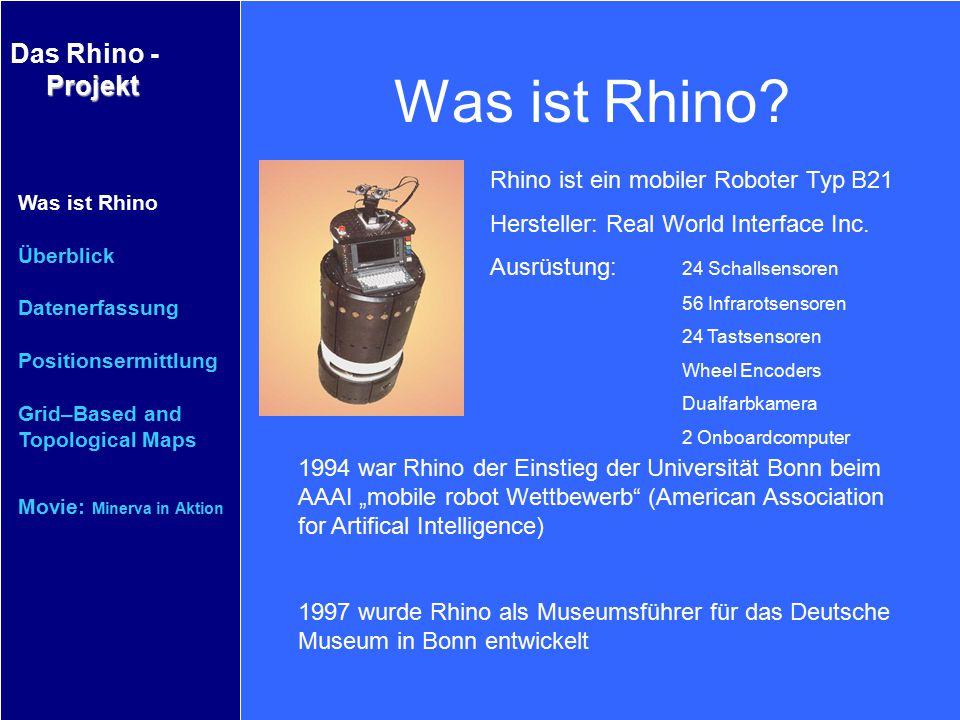 Was ist Rhino Rhino ist ein mobiler Roboter Typ B21
