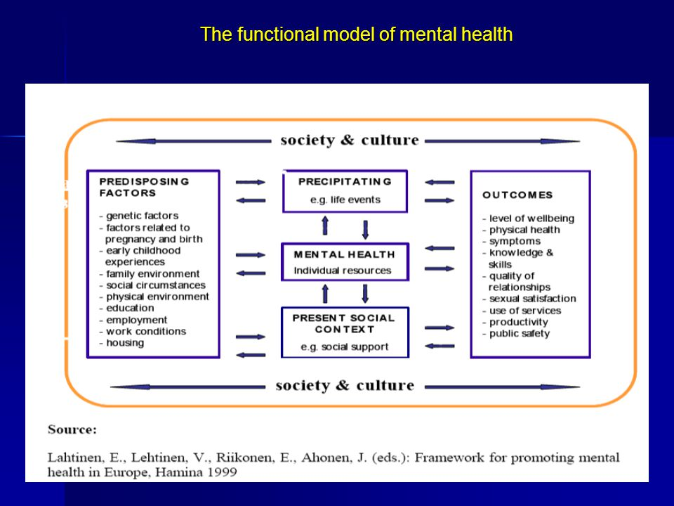 The functional model of mental health