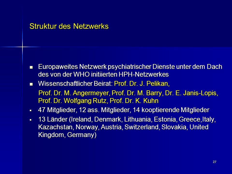 Struktur des Netzwerks