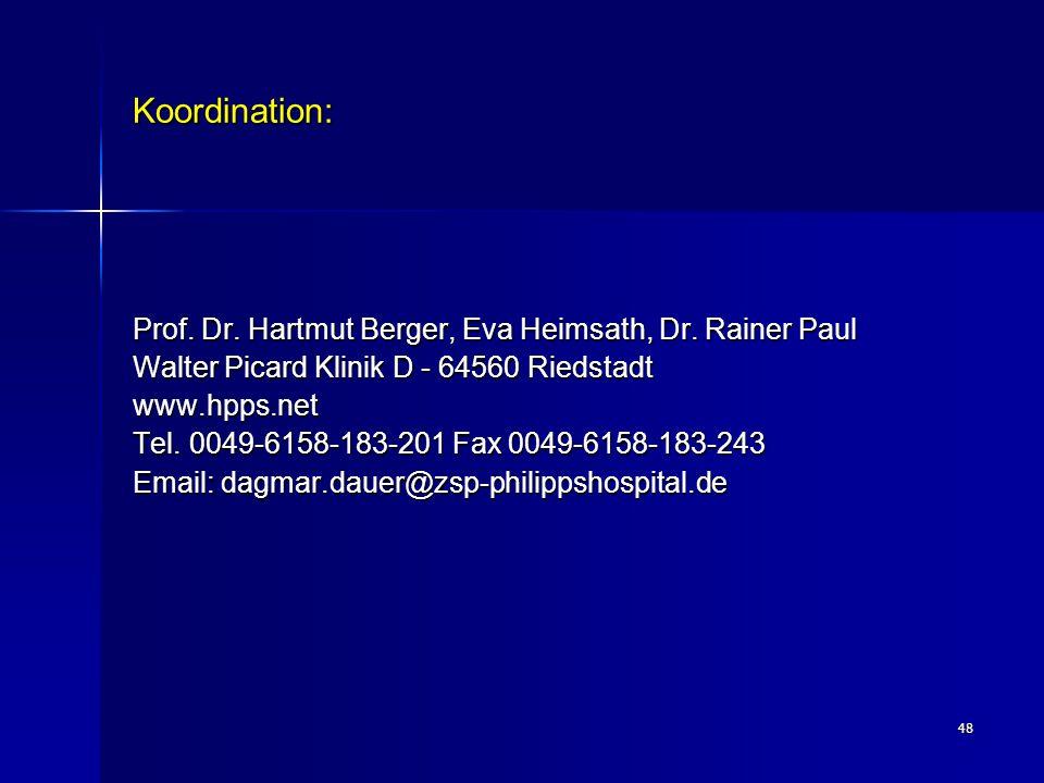 Koordination: Prof. Dr. Hartmut Berger, Eva Heimsath, Dr. Rainer Paul
