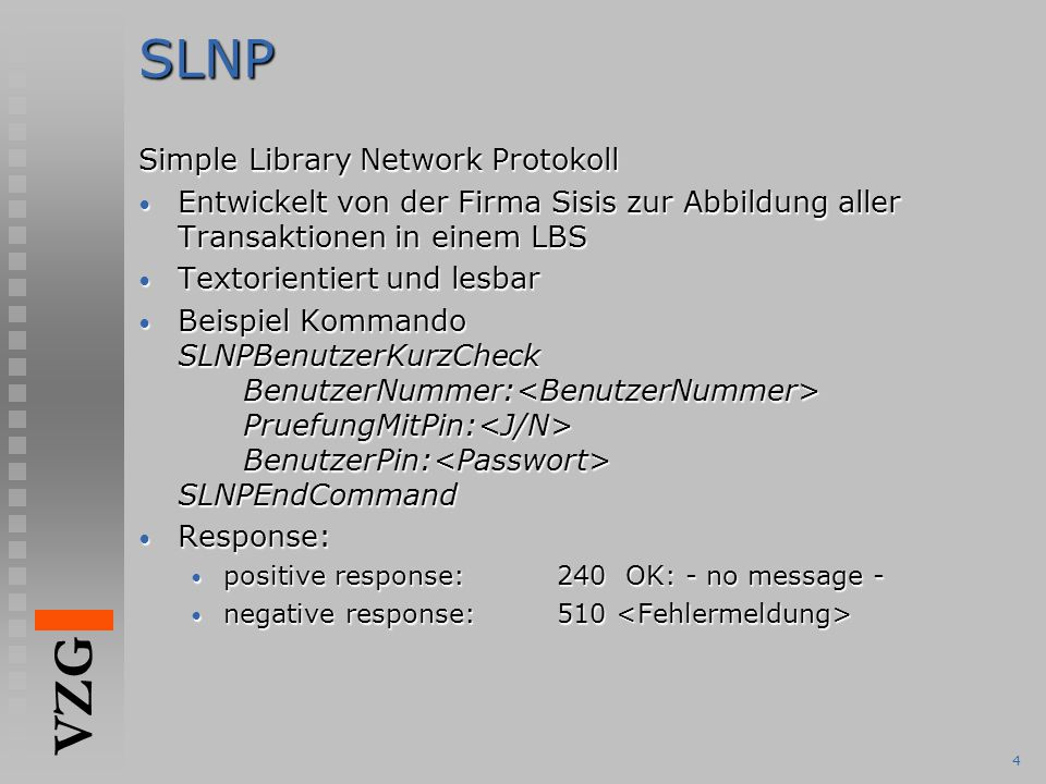 SLNP Simple Library Network Protokoll