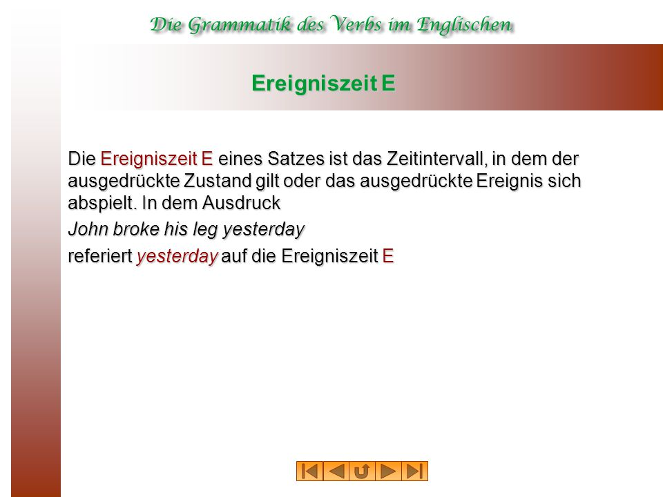 Ereigniszeit E