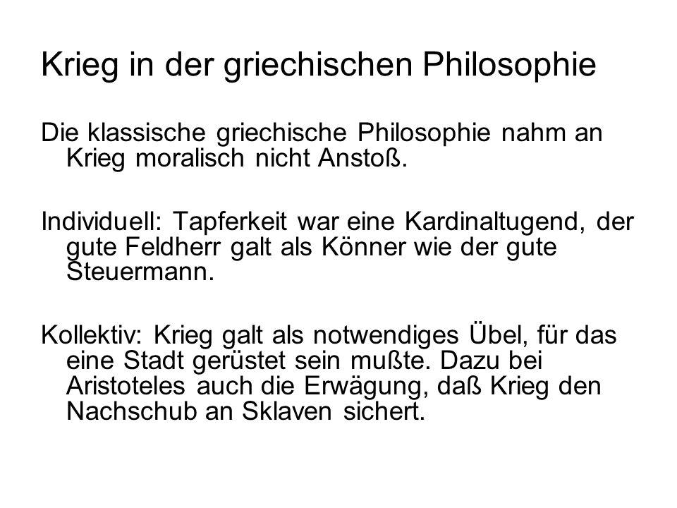 Krieg in der griechischen Philosophie