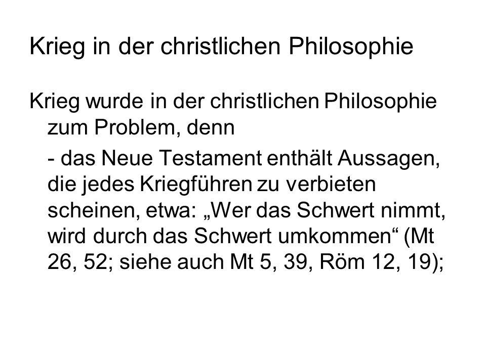 Krieg in der christlichen Philosophie