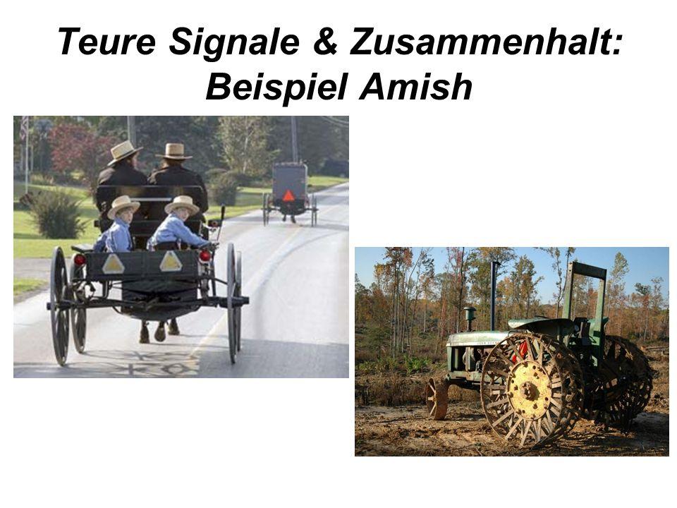 Teure Signale & Zusammenhalt: Beispiel Amish