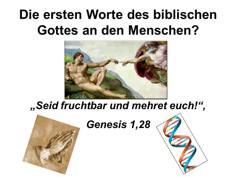 Die ersten Worte des biblischen Gottes an den Menschen