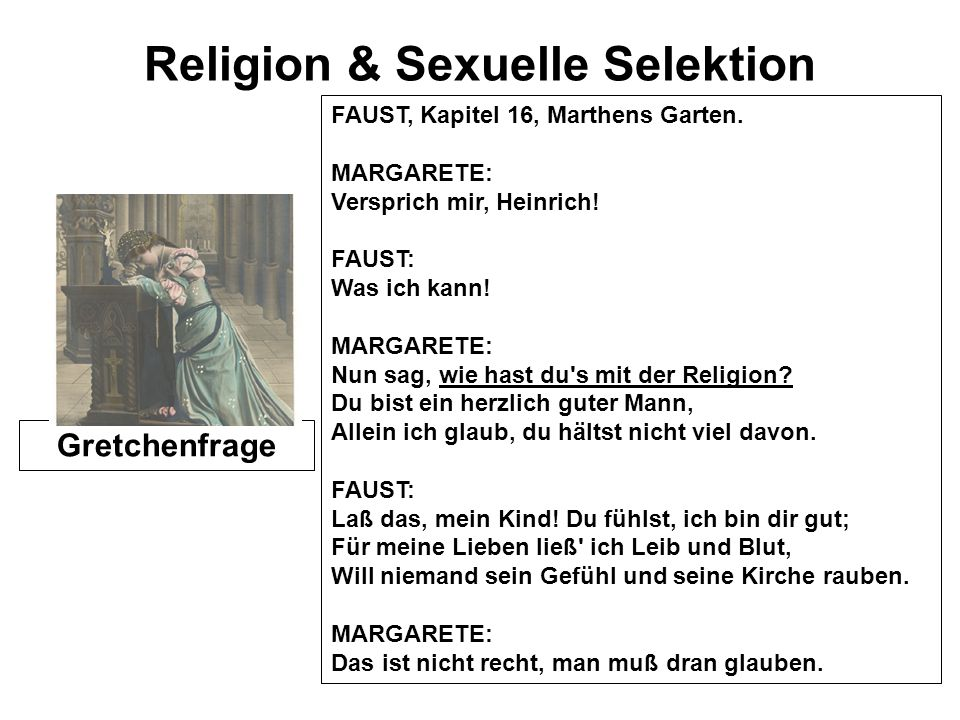 Religion & Sexuelle Selektion