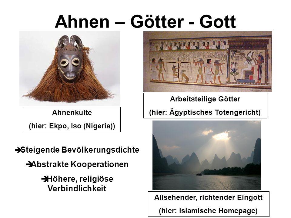 Ahnen – Götter - Gott Abstrakte Kooperationen