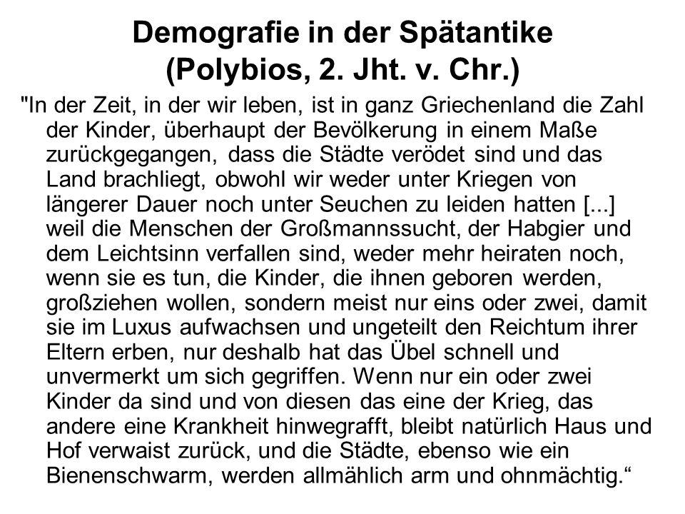 Demografie in der Spätantike (Polybios, 2. Jht. v. Chr.)