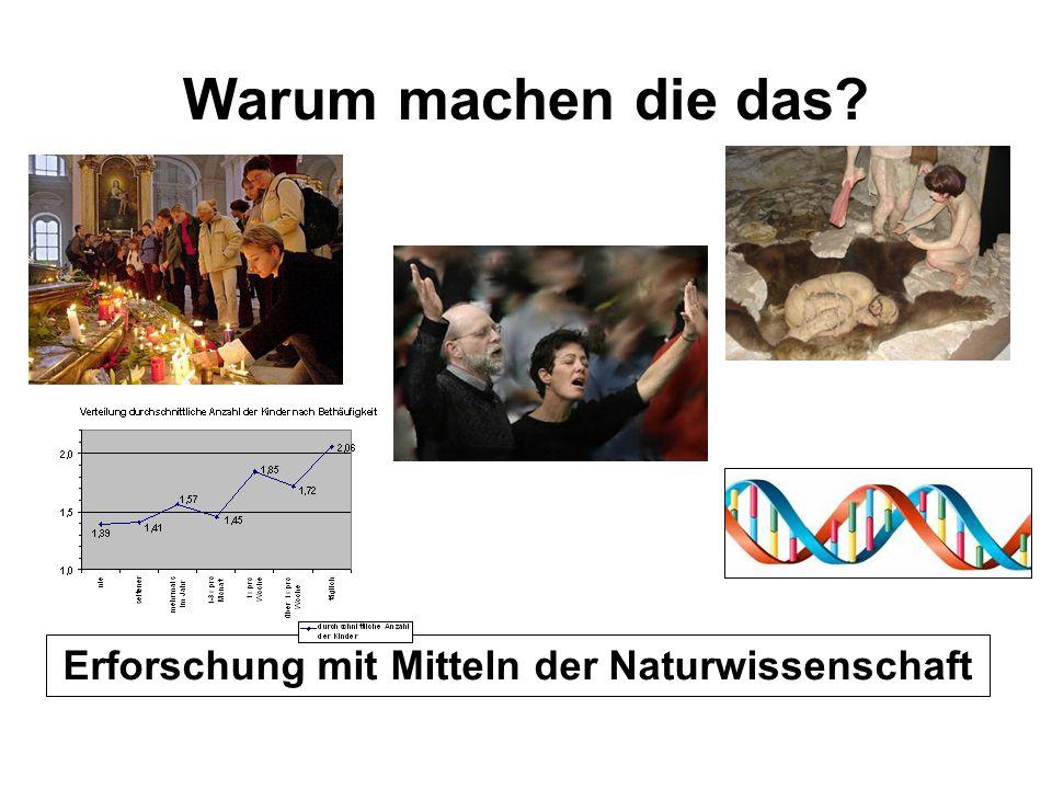 Erforschung mit Mitteln der Naturwissenschaft