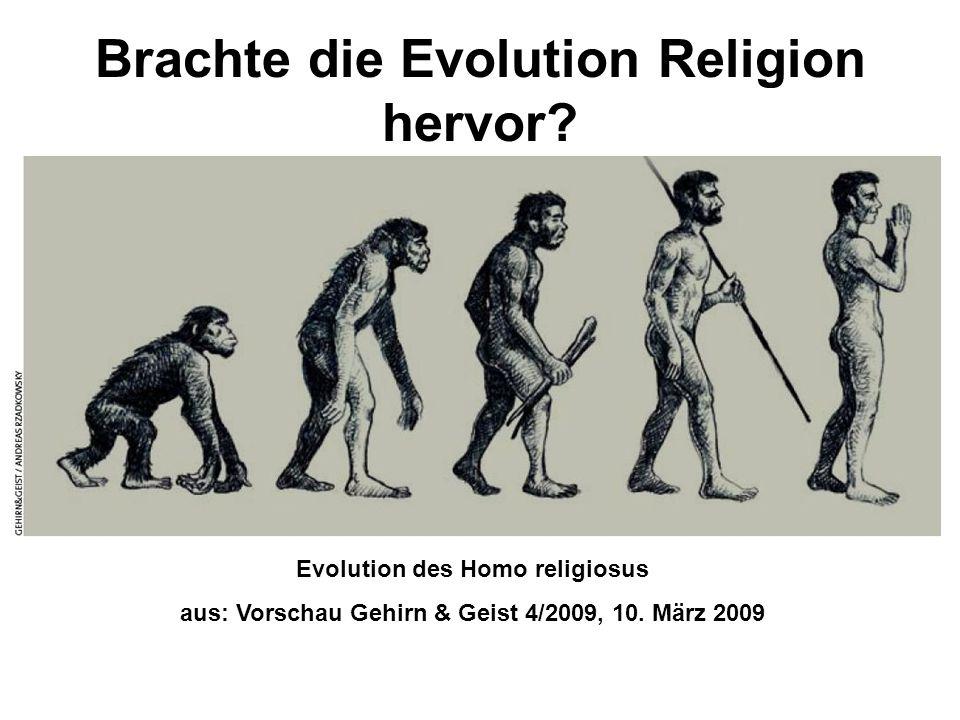 Brachte die Evolution Religion hervor
