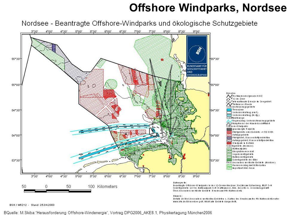 Offshore Windparks, Nordsee