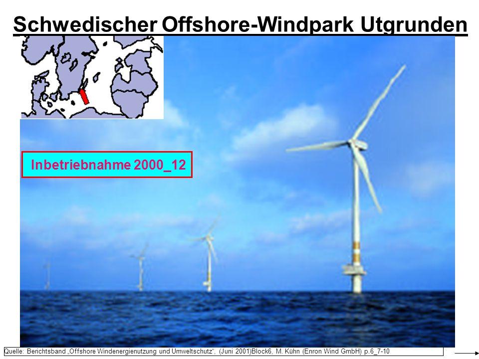 Schwedischer Offshore-Windpark Utgrunden