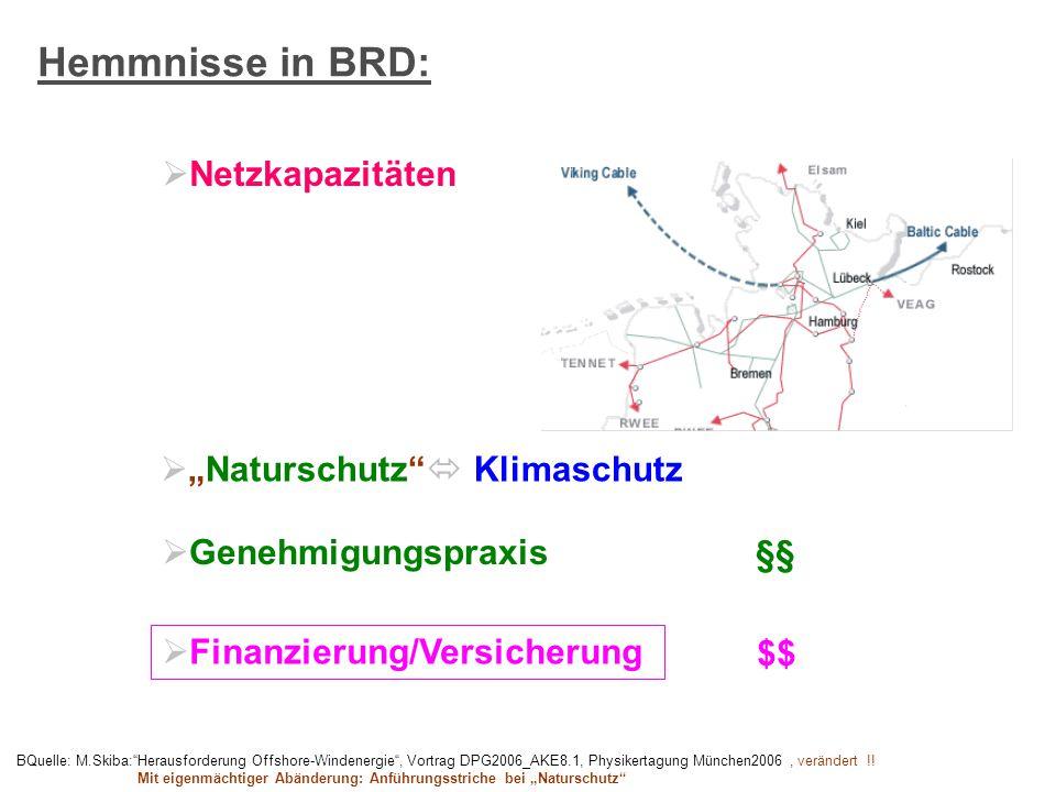 "Hemmnisse in BRD: Netzkapazitäten ""Naturschutz  Klimaschutz"