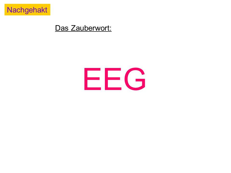 Nachgehakt Das Zauberwort: EEG