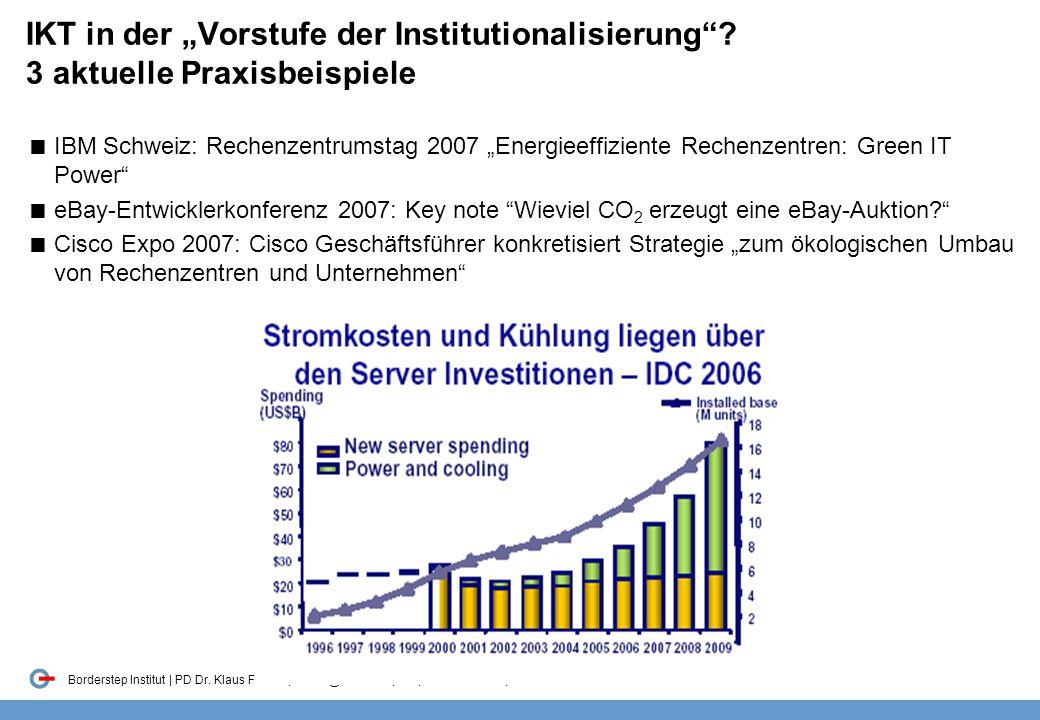 """IKT in der """"Vorstufe der Institutionalisierung"""