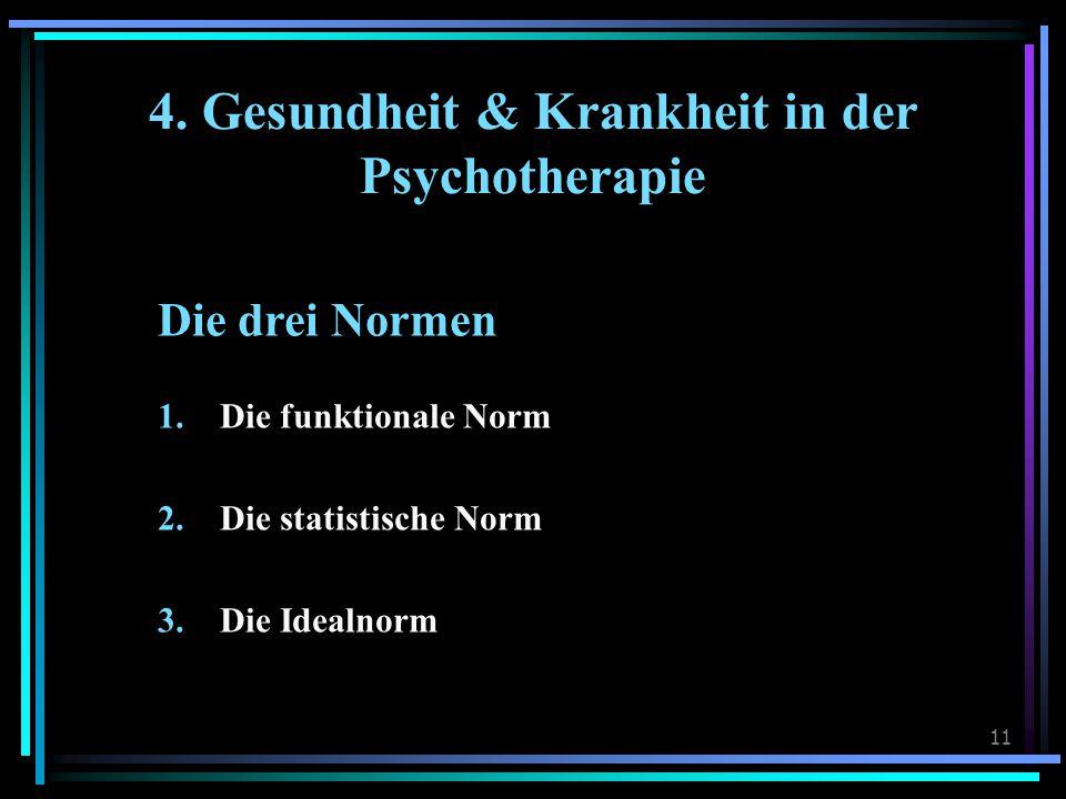 4. Gesundheit & Krankheit in der Psychotherapie