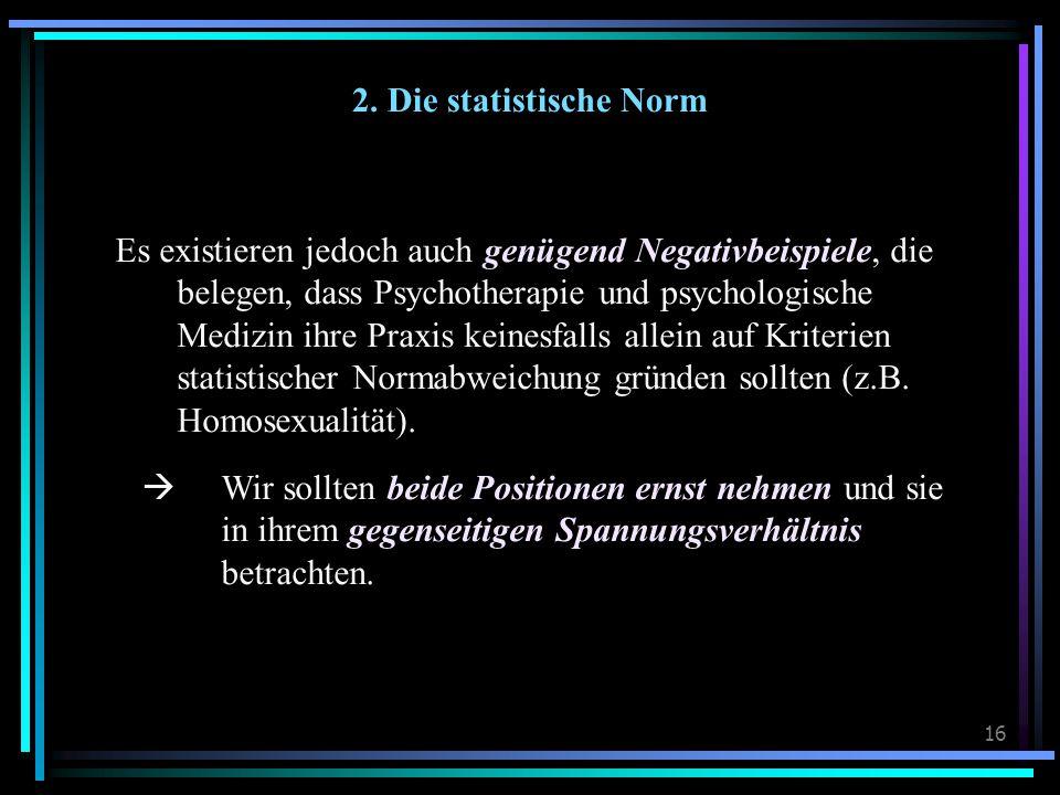2. Die statistische Norm